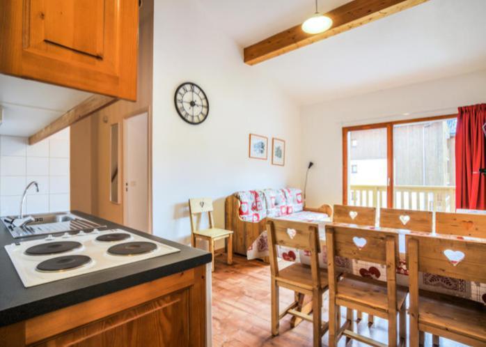 Vakantie in de bergen Appartement 3 kamers 7 personen (72) - Résidence Cheval Blanc - Valfréjus - Keukenblok