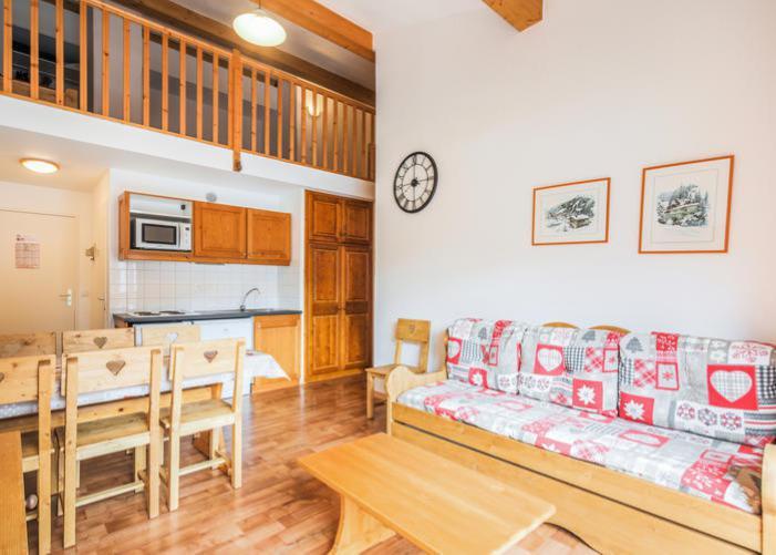 Vakantie in de bergen Appartement 3 kamers 7 personen (72) - Résidence Cheval Blanc - Valfréjus - Woonkamer