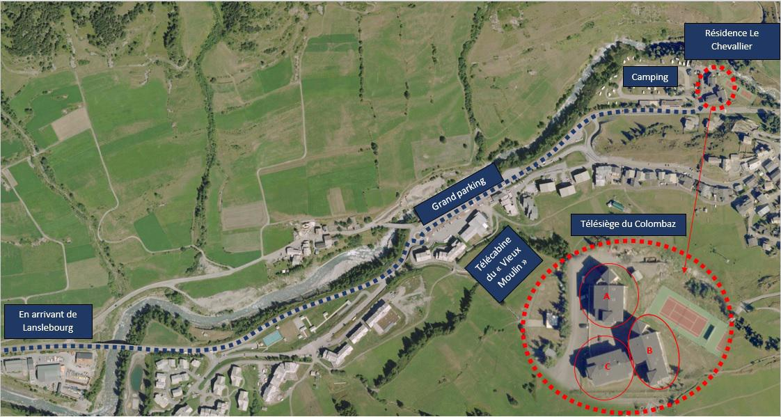 Vacances en montagne Appartement 2 pièces 4 personnes (005) - Résidence Chevallier - Val Cenis - Plan