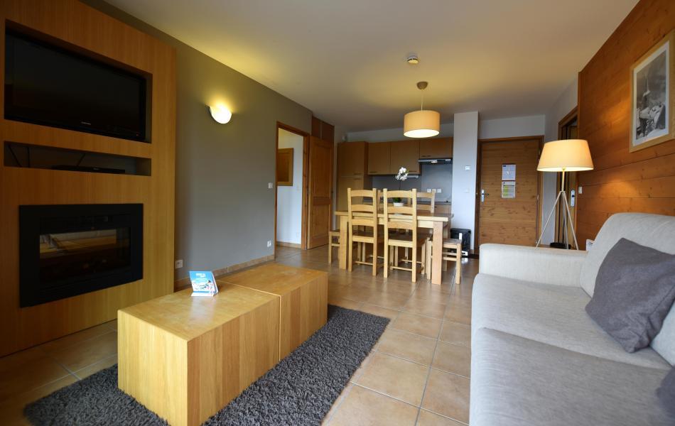 Urlaub in den Bergen Résidence Club MMV l'Étoile des Cîmes - Sainte Foy Tarentaise - Kleines Wohnzimmer
