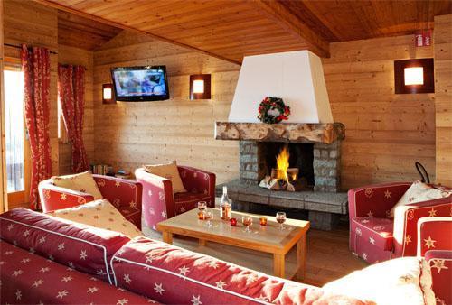 Vacances en montagne Residence Club Mmv Le Centaure - La Plagne - Cheminée