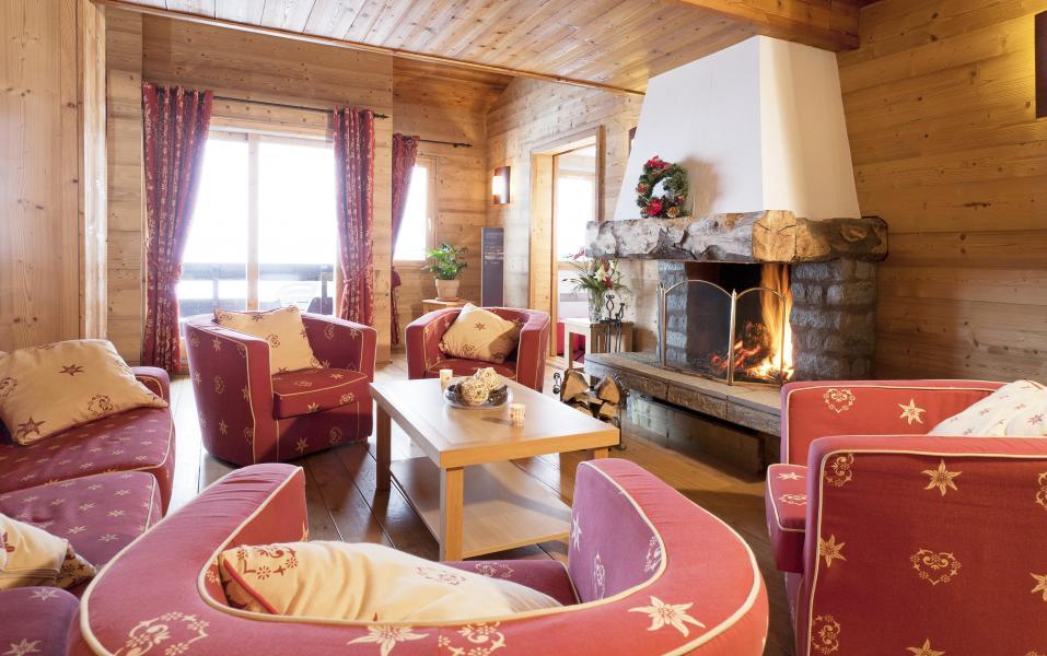 Vacances en montagne Résidence Club MMV le Centaure - La Plagne - Cheminée