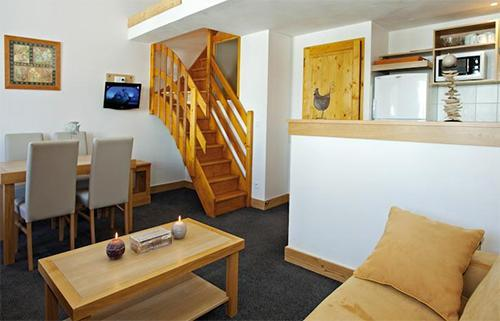 Vacances en montagne Residence Club Mmv Le Centaure - La Plagne - Coin séjour