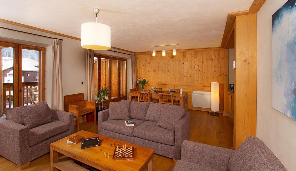 Urlaub in den Bergen Résidence Cortina - Les 2 Alpes - Wohnzimmer