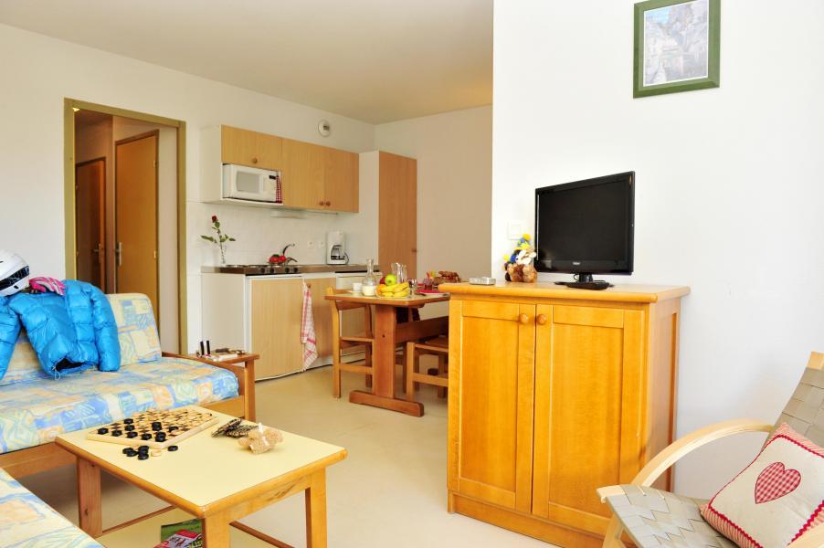 Urlaub in den Bergen Résidence Couleurs Soleil - Oz en Oisans - Kleines Wohnzimmer