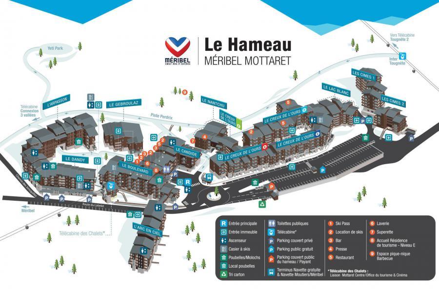 Vacaciones en montaña Résidence Creux de l'Ours Bleu - Méribel-Mottaret - Plano