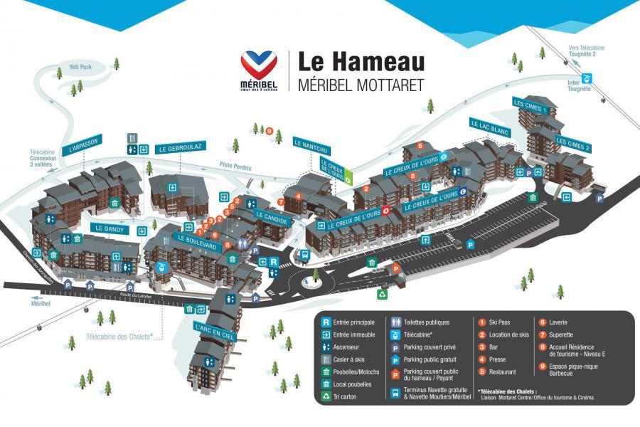 Vacances en montagne Résidence Dandy - Méribel-Mottaret - Plan