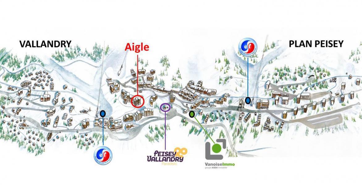 Urlaub in den Bergen Résidence de l'Aigle - Peisey-Vallandry