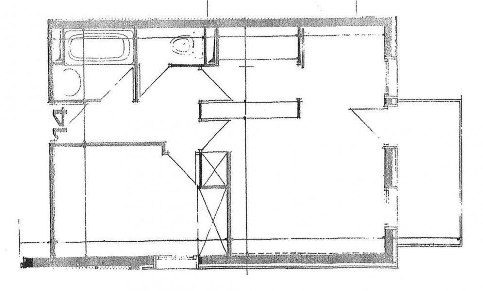 Wakacje w górach Apartament 2 pokojowy 6 osób (G300) - Résidence des Roches Blanches - Valmorel - Plan