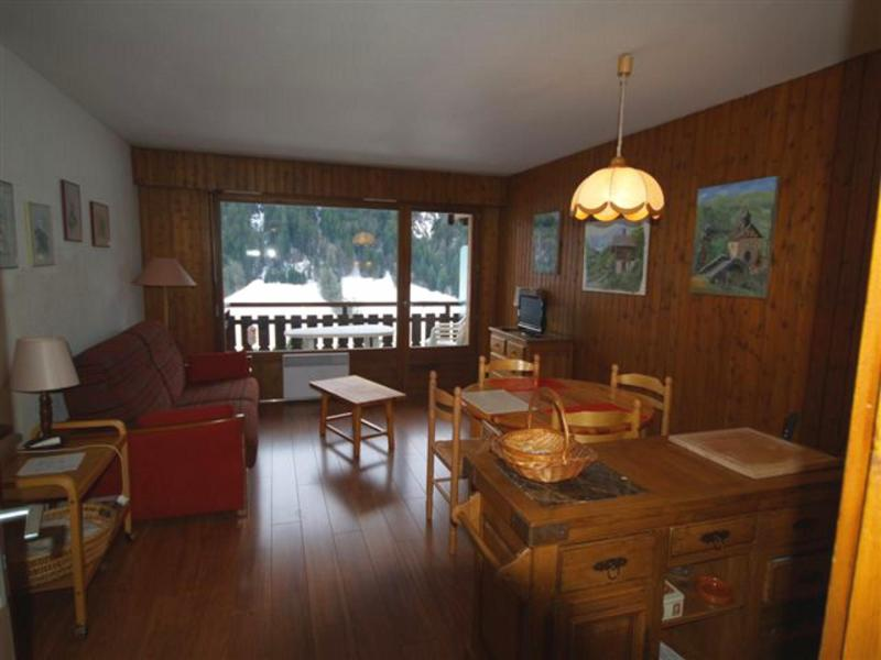 Holiday in mountain resort Studio sleeping corner 4 people (301) - Résidence Digitale - Le Grand Bornand - Living room