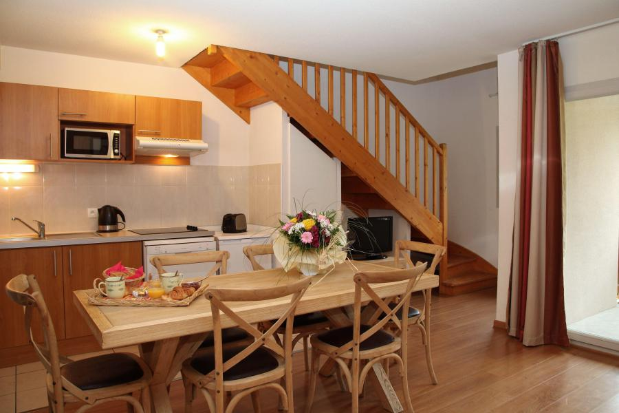 Holiday in mountain resort 3 room duplex apartment cabin 8 people - Résidence Domaine du Val de Roland - Luz Ardiden - Living room