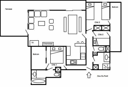 Location au ski Résidence Dou du Pont - Méribel - Extérieur été