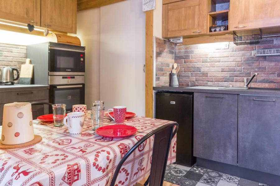 Holiday in mountain resort Studio cabin 3 people (102) - Résidence Drus - La Plagne - Kitchenette