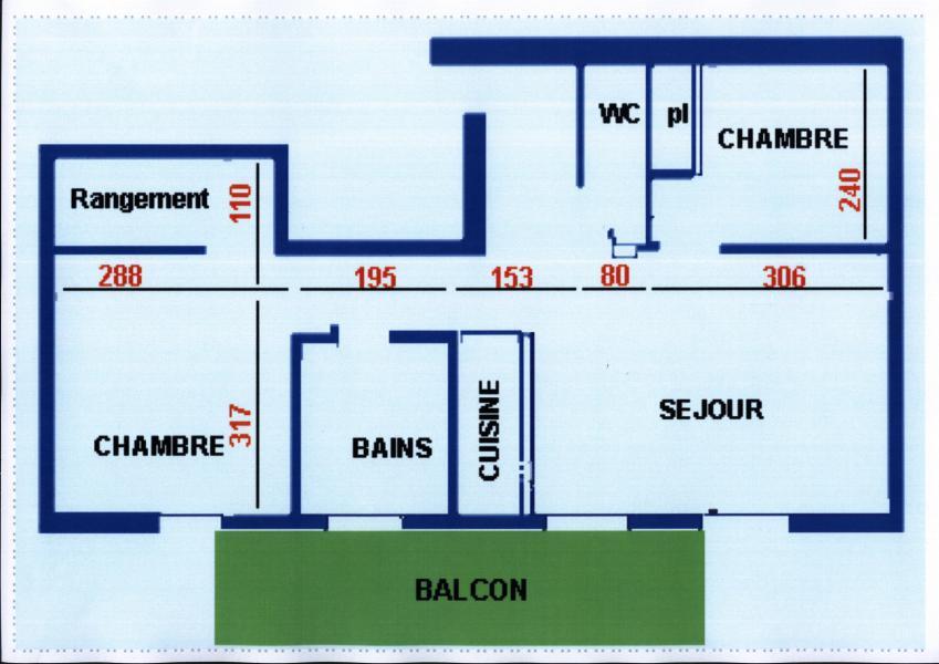 Wakacje w górach Apartament 3 pokojowy z antresolą 7 osób (7) - Résidence Echo des Montagnes - Châtel - Plan