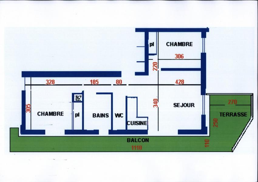 Wakacje w górach Apartament 3 pokojowy 6 osób (3) - Résidence Echo des Montagnes - Châtel - Plan