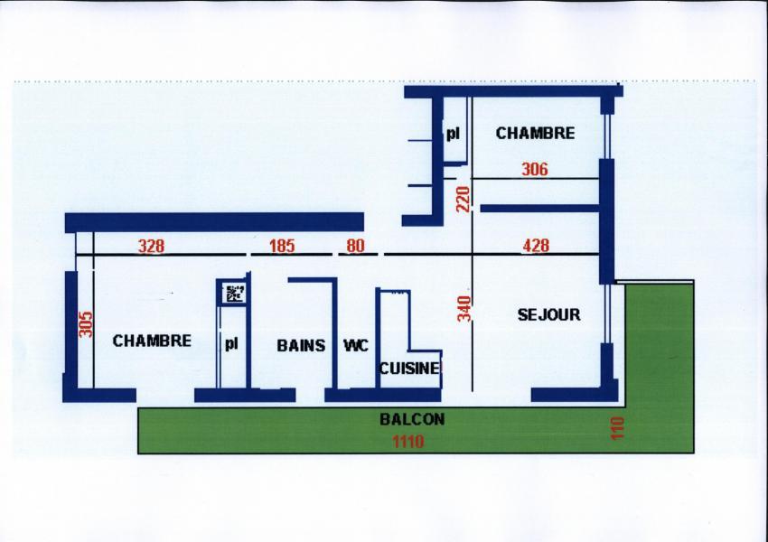 Wakacje w górach Apartament 3 pokojowy 6 osób (6) - Résidence Echo des Montagnes - Châtel - Plan