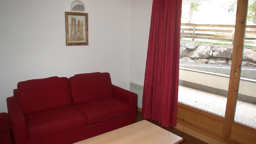 Vacances en montagne Appartement 2 pièces 4 personnes (U002) - Résidence Ecrin des Neiges - Vars - Canapé