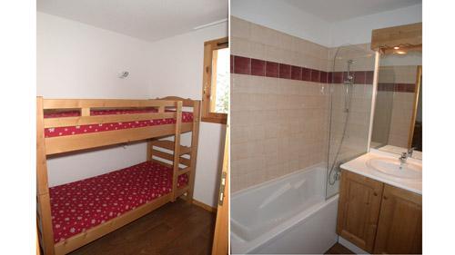 Vacances en montagne Appartement 2 pièces 6 personnes (U003) - Résidence Ecrin des Neiges - Vars - Lits superposés