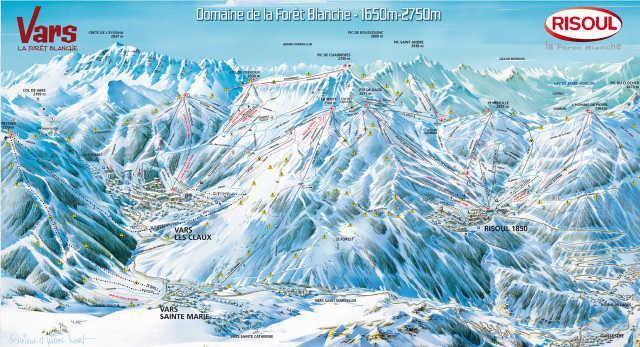 Vacaciones en montaña Résidence Edelweiss - Risoul - Plano
