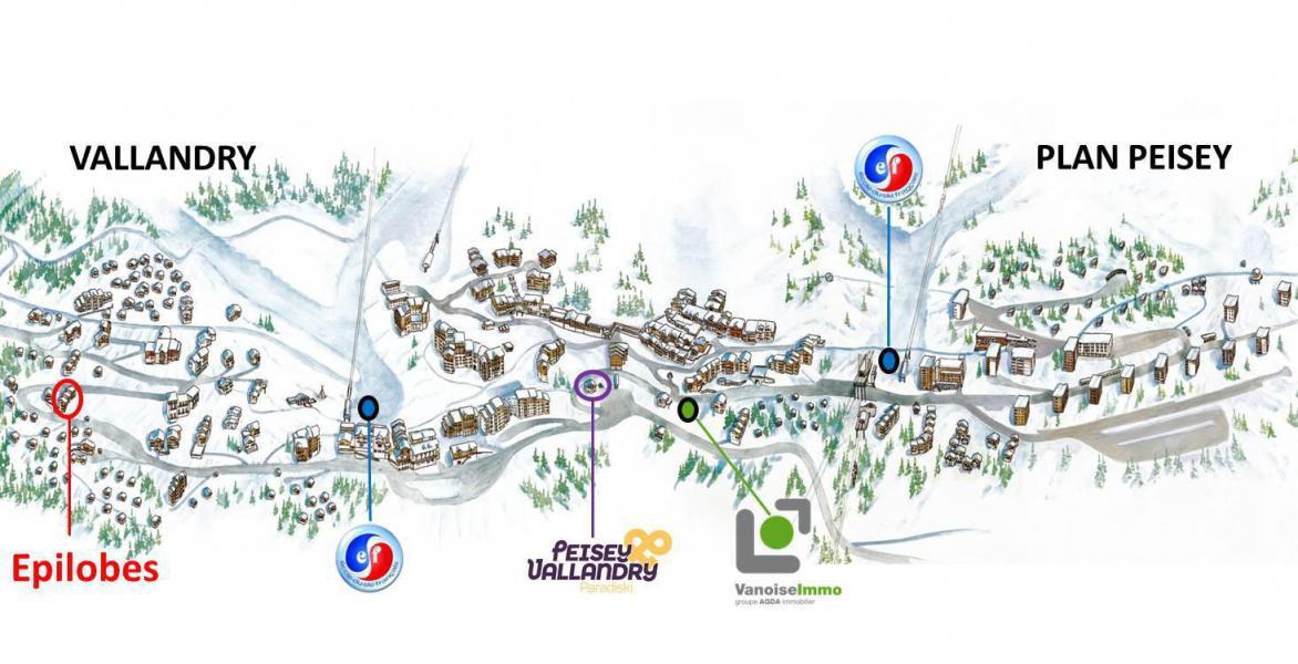 Urlaub in den Bergen Résidence Epilobes - Peisey-Vallandry - Plan