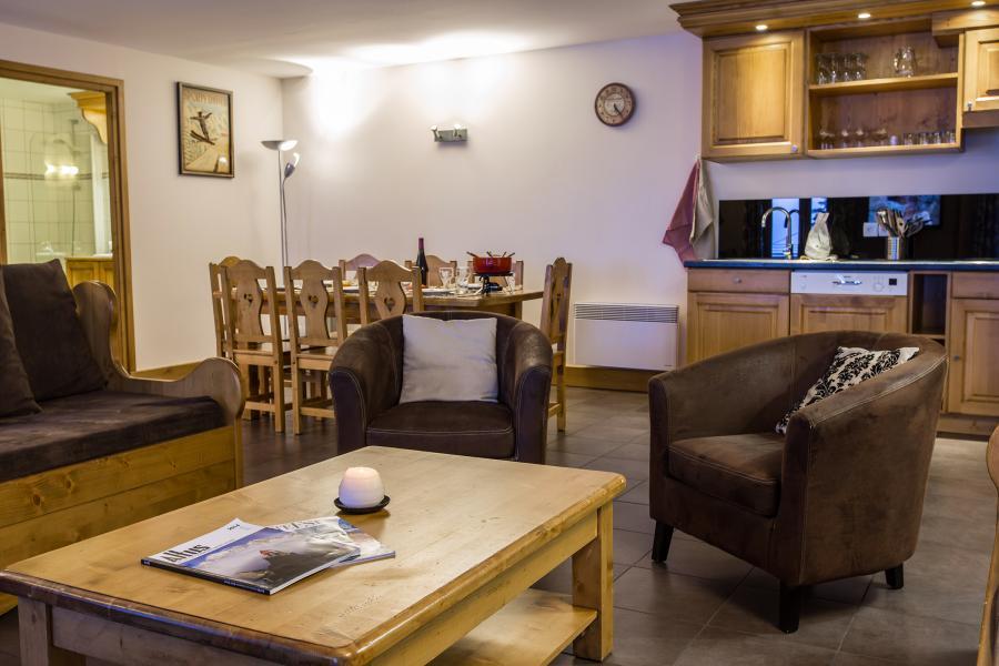 Urlaub in den Bergen Résidence et Spa Vallorcine Mont Blanc - Vallorcine - Kleines Wohnzimmer