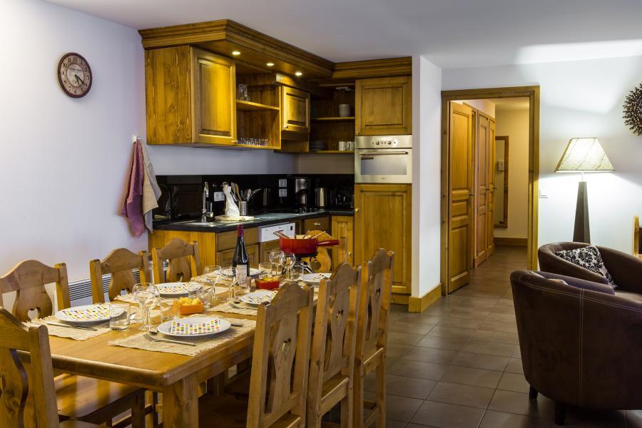 Vakantie in de bergen Résidence et Spa Vallorcine Mont Blanc - Vallorcine - Open keuken