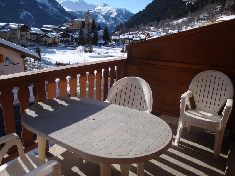 Wakacje w górach Studio z alkową 4 osoby (CAMPANUL) - Résidence Flor'Alpes - Champagny-en-Vanoise - Balkon
