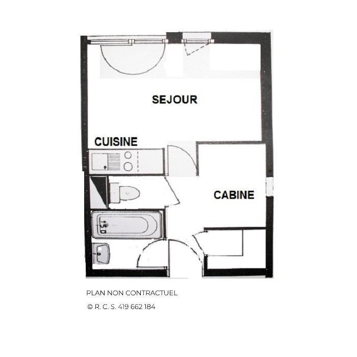 Vacances en montagne Studio cabine 4 personnes (106) - Résidence Gentianes - Les Menuires