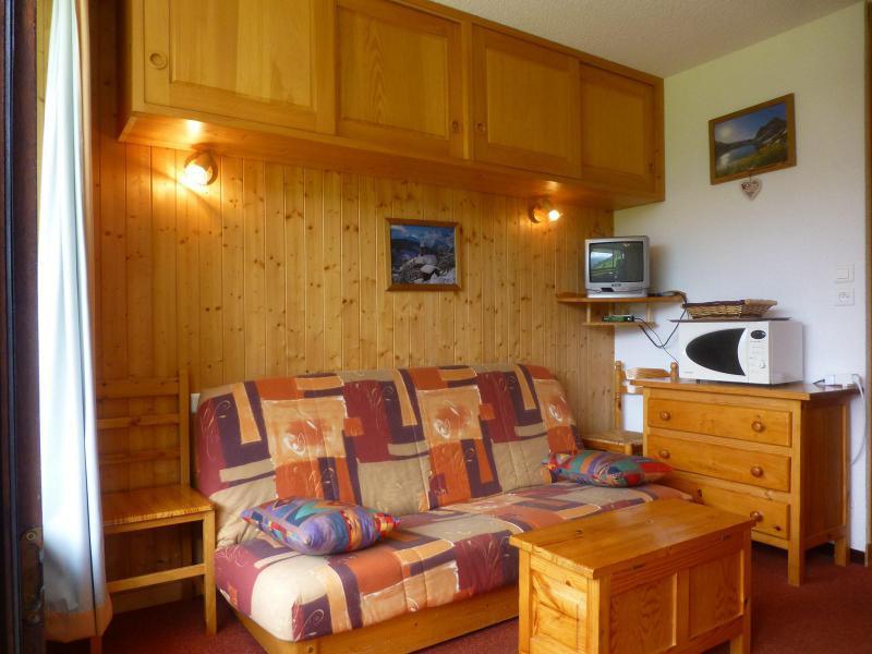 Holiday in mountain resort Studio 2 people (3407) - Résidence Gentianes - Peisey-Vallandry - Living room