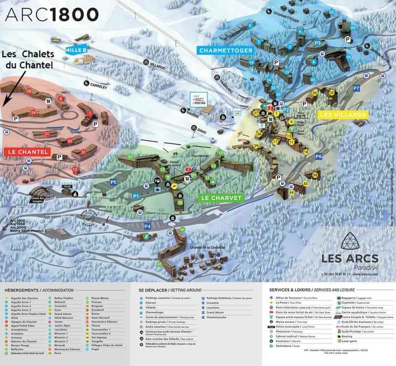 Vacances en montagne Studio 2 personnes (414) - Résidence Grand Arbois - Les Arcs - Plan