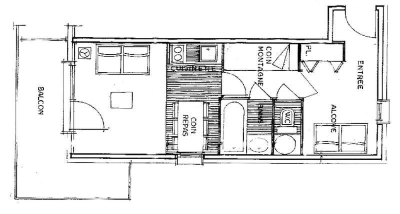 Каникулы в горах Апартаменты 2 комнат 5 чел. (2212) - Résidence Grand Mont 2 - Les Saisies - план