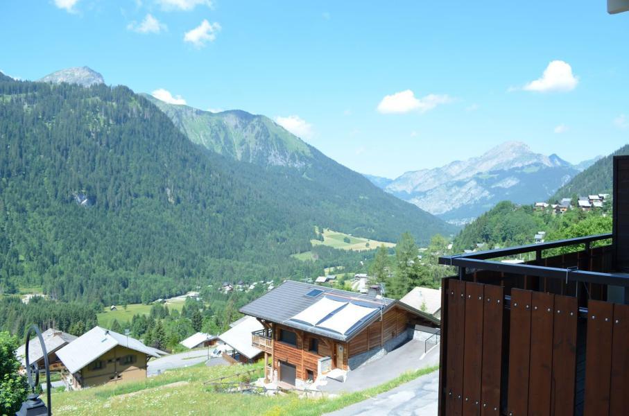 Wakacje w górach Apartament 2 pokojowy z alkową 5 osób (124C) - Résidence Hameau des Quatre Saisons - Châtel - Na zewnątrz latem