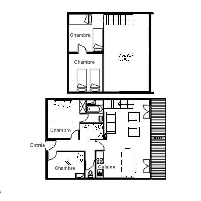 Vacances en montagne Appartement 4 pièces mezzanine 8 personnes (D2) - Résidence Hors Piste - Saint Martin de Belleville