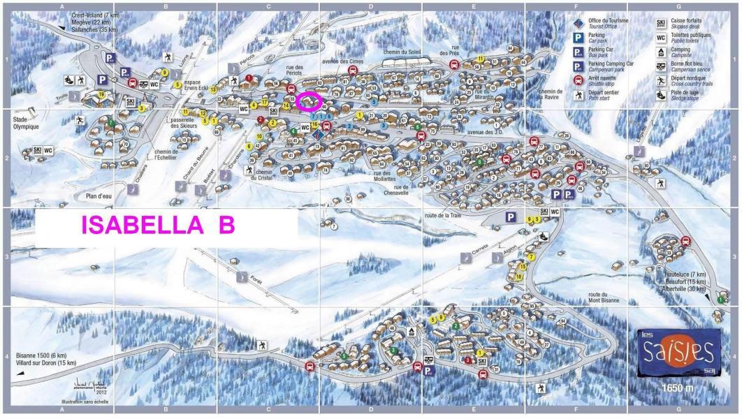 Vacaciones en montaña Résidence Isabelle B - Les Saisies - Plano