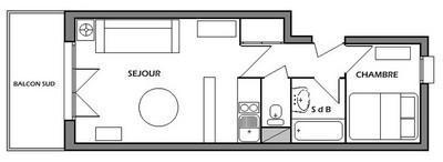Vacaciones en montaña Apartamento 2 piezas para 5 personas (37) - Résidence Isabelle B - Les Saisies - Plano