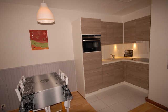 Holiday in mountain resort Studio 6 people (ISA72) - Résidence Isards - Gourette - Open-plan kitchen