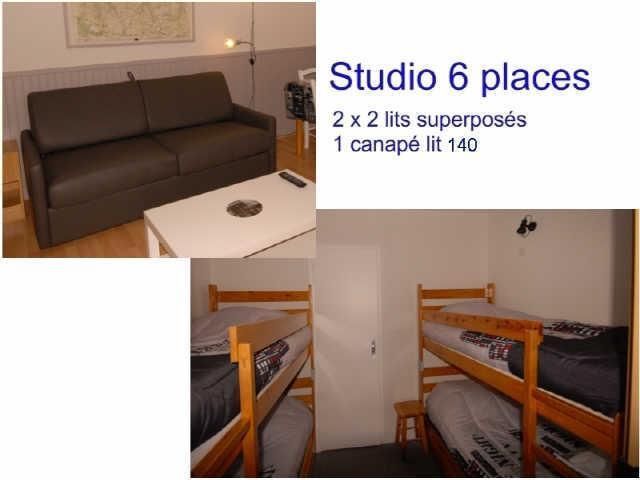 Holiday in mountain resort Studio 6 people (ISA72) - Résidence Isards - Gourette - Sleeping area