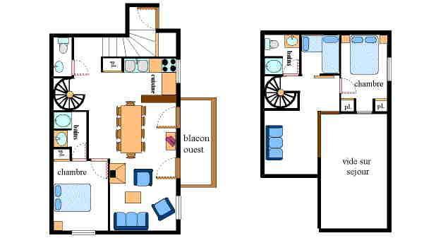 Vakantie in de bergen Appartement 4 kamers mezzanine 10 personen - Résidence Jorcin Lanslebourg - Val Cenis - Kaart