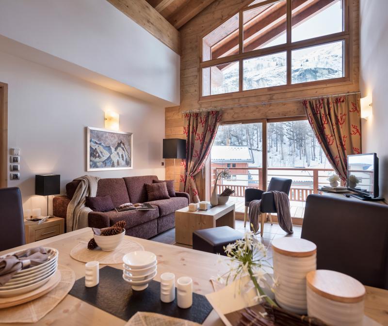 Vakantie in de bergen Résidence Kalinda Village - Tignes - Woonkamer