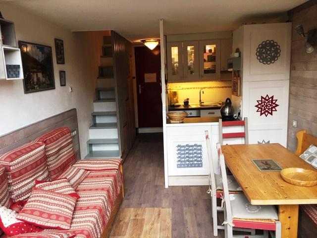 Vakantie in de bergen Appartement duplex 2 kamers 6 personen (3415) - Résidence l'Aiguille Grive 3 - Les Arcs - Woonkamer