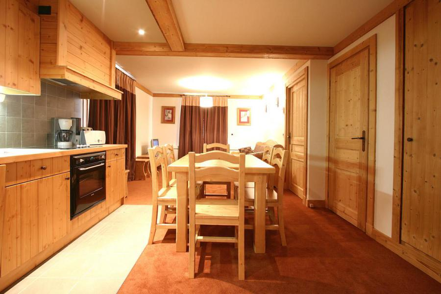 Urlaub in den Bergen 2-Zimmer-Berghütte für 4 Personen - Résidence l'Alba - Les 2 Alpes - Esszimmer