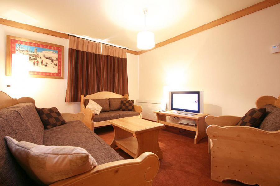 Urlaub in den Bergen Résidence l'Alba - Les 2 Alpes - Wohnzimmer