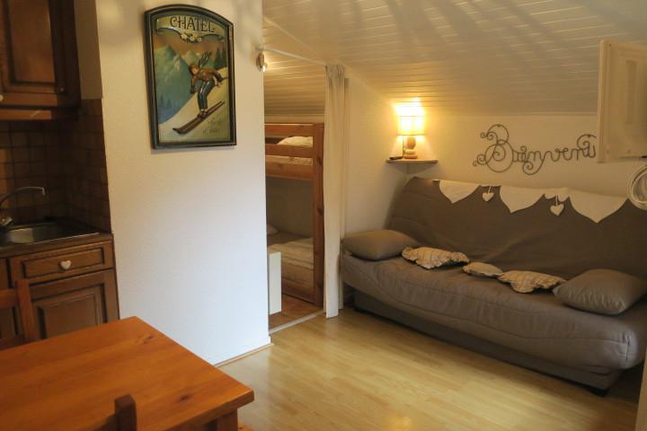 Vacances en montagne Studio coin montagne 4 personnes (D9BIS) - Résidence l'Alpage - Châtel - Séjour