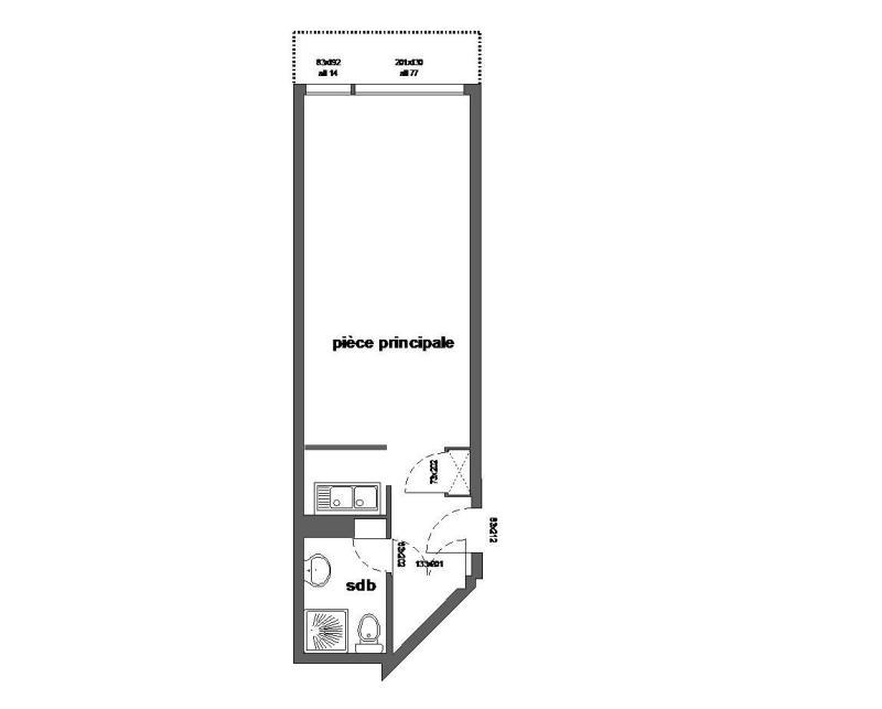 Vacances en montagne Studio 4 personnes (507) - Résidence l'Arselle - Chamrousse - Plan