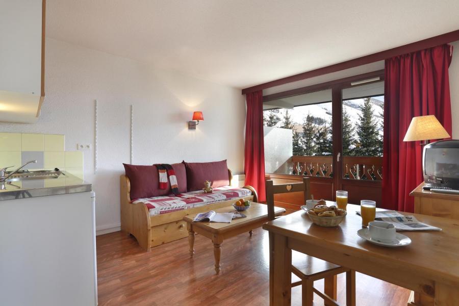 Urlaub in den Bergen Résidence l'Edelweiss - Les 2 Alpes - Wohnzimmer