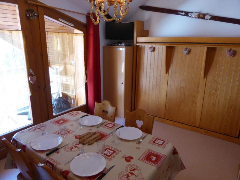 Holiday in mountain resort Studio cabin 4 people (J735) - Résidence l'Enclave - Les Contamines-Montjoie