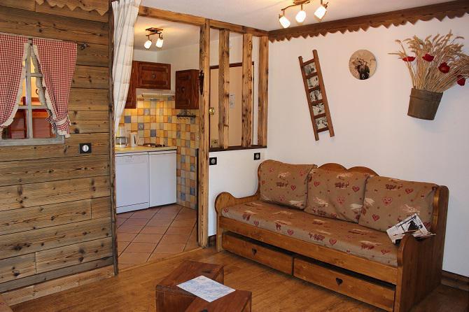Vacances en montagne Appartement 2 pièces 4 personnes (414) - Résidence l'Eskival - Val Thorens - Séjour