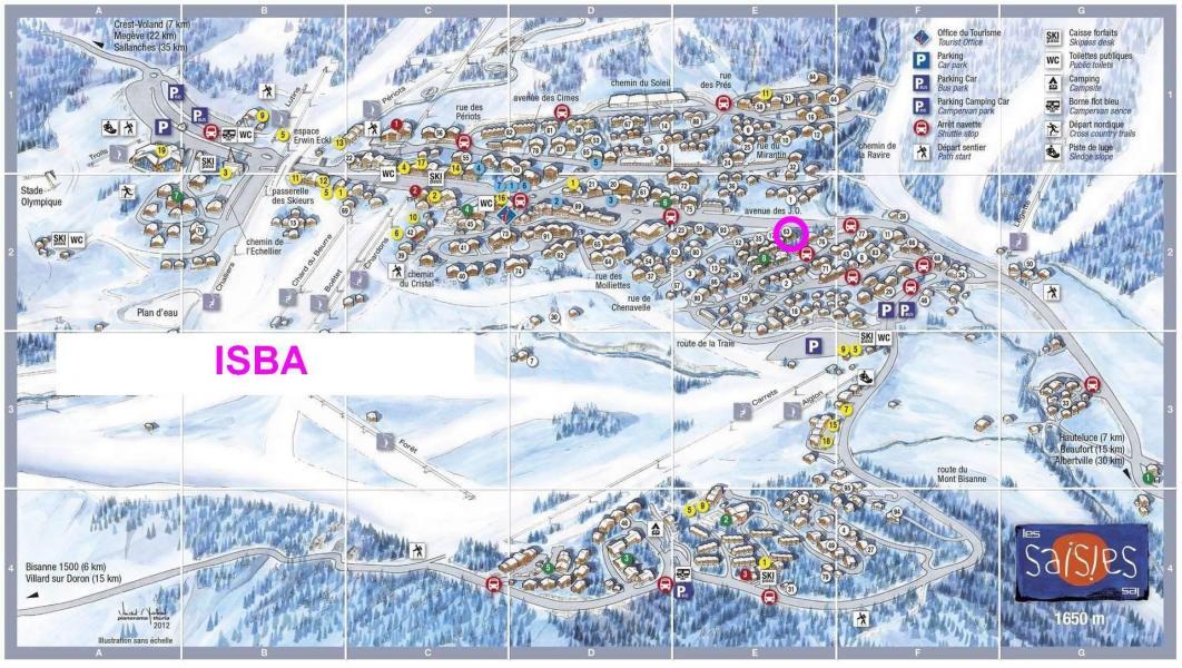 Vacaciones en montaña Résidence l'Isba - Les Saisies - Plano