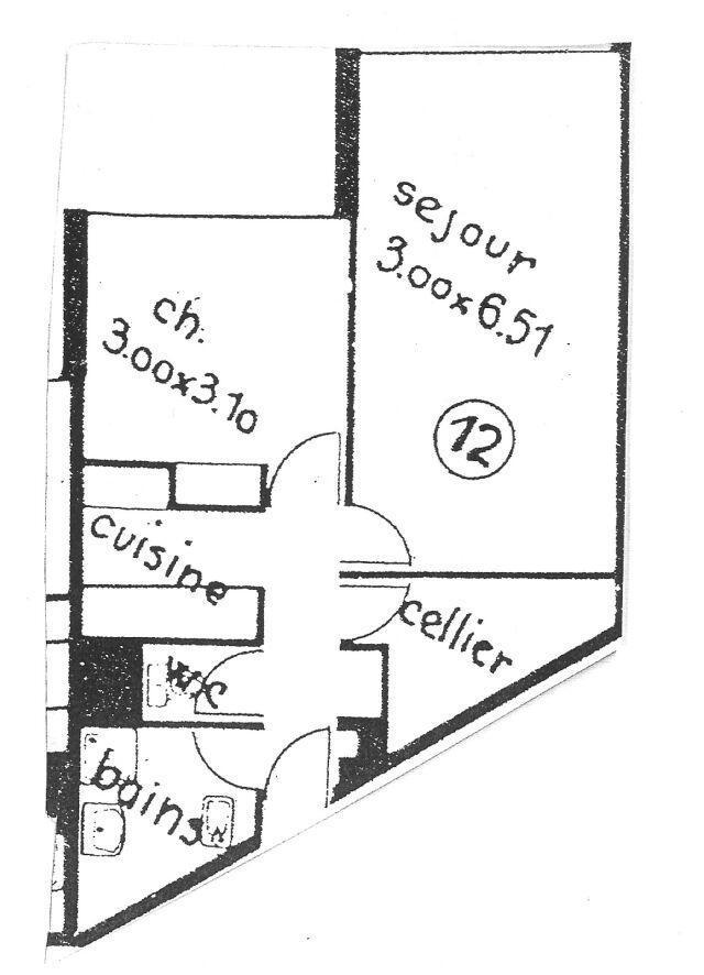 Vacances en montagne Appartement 2 pièces 6 personnes (1212) - Résidence l'Olympic - Chamrousse - Plan