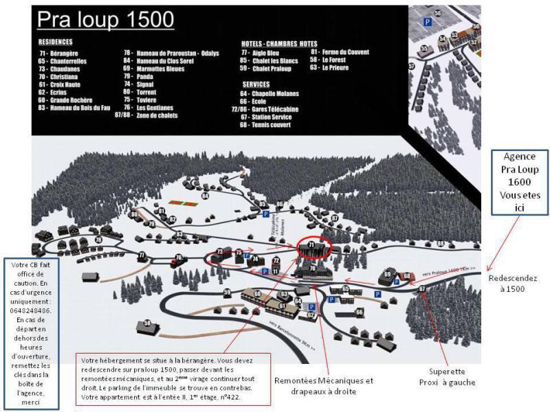 Wakacje w górach Logement 1 pièces 6 personnes (BER-II-422-SD) - Résidence la Bérangère II - Pra Loup